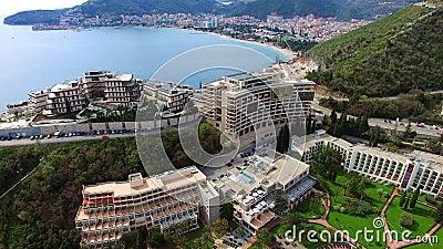 Luxushotel komplexes Dukley in Budva, Montenegro Schießen mit