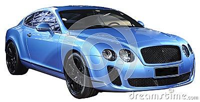 Luxuxsportauto getrennt