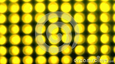 A luz amarela de piscamento video estoque