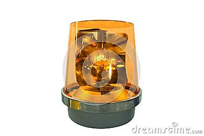 Luz amarela de piscamento