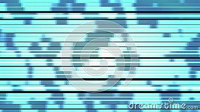 Luz azul escenario Twinkling partículas horizontales de alta tecnología parpadeo de pantalla abstracta almacen de metraje de vídeo