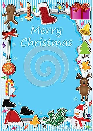 Luz Card_eps del marco de la Navidad