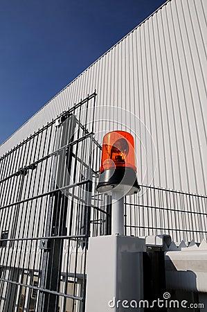 Luz de piscamento na fábrica