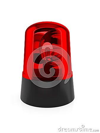 Luz de piscamento vermelha
