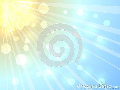 Luz do sol do verão