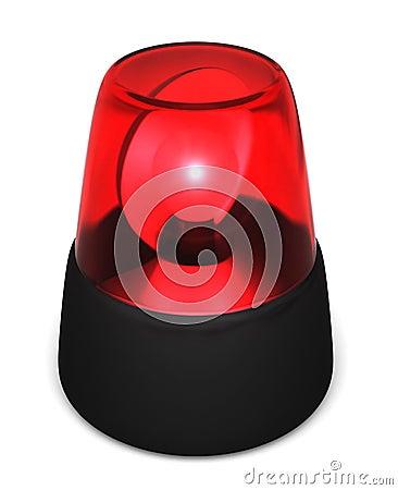 Luz que contellea roja