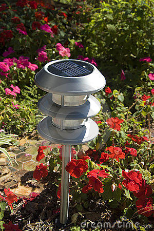 Luz solar del jardín