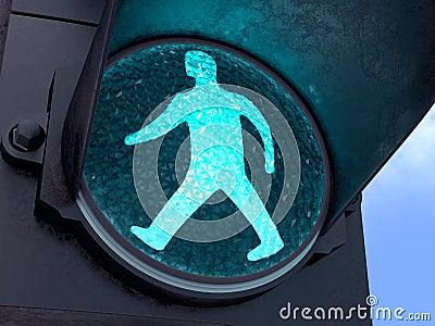 Luz verde peatonal