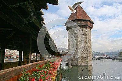 Luzern  wooden bridge