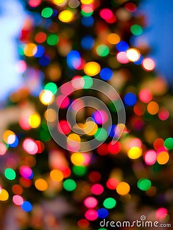 Luzes da árvore de Natal