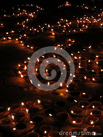 Luzes de Diwali