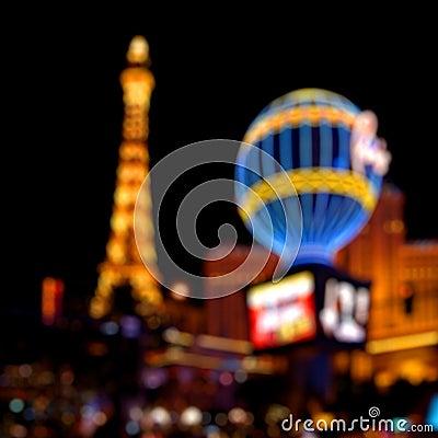 Luzes de Las Vegas Foto Editorial