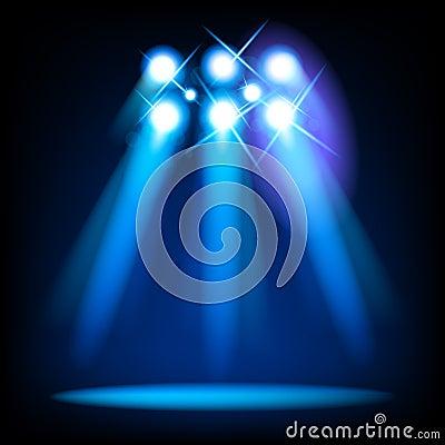 Luzes do estágio do vetor