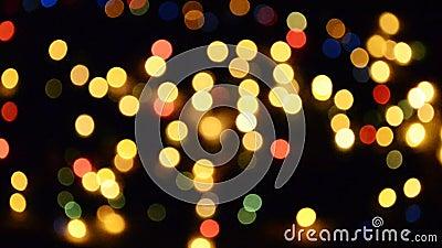 Luzes piscar video estoque