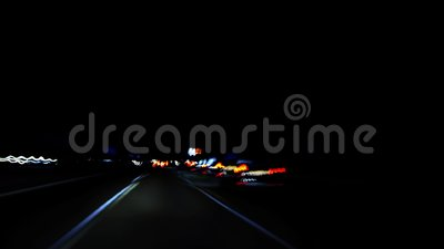 Luzes rápidas da estrada do carro filme