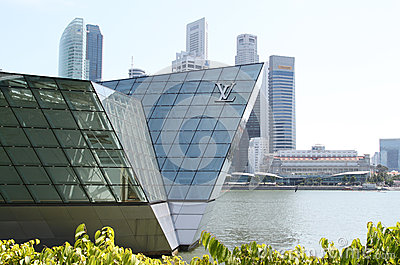 LV Pavilion at Singapore Editorial Photo