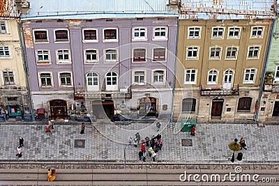 Lviv at autumn, Ukraine Editorial Stock Photo
