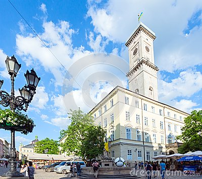 Lviv City scene (Ukraine).  MAY 10, 2012 Editorial Stock Image