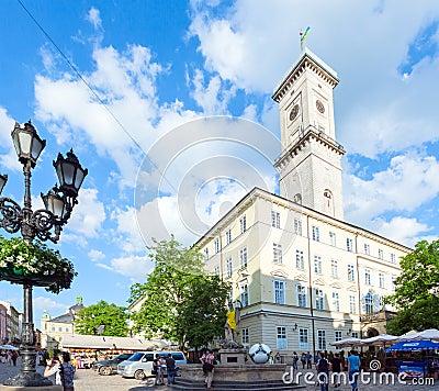 Lviv City scene (Ukraine).  MAY 10, 2012 Editorial Stock Image