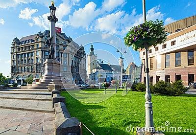 Lviv City scene (Ukraine).  MAY 10, 2012 Editorial Photo