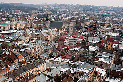 Lviv Cityscape Royalty Free Stock Photo - Image: 19021645