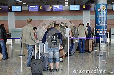 Lviv International Airport Editorial Stock Image