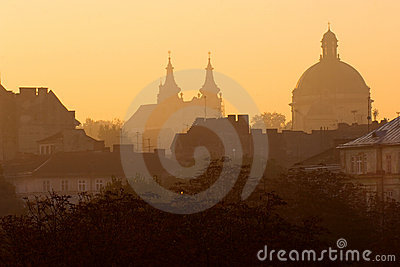 Lviv at sunrise
