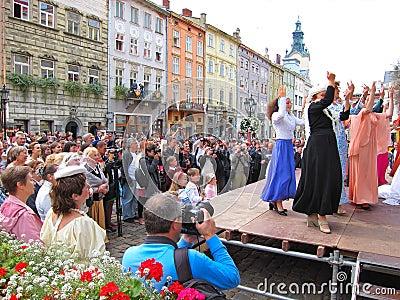 LvivKlezFest,利沃夫州乌克兰 编辑类库存照片
