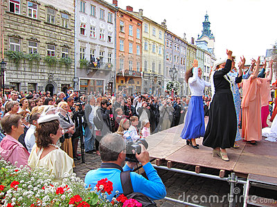 LvivKlezFest, Lviv Ucrânia Foto de Stock Editorial