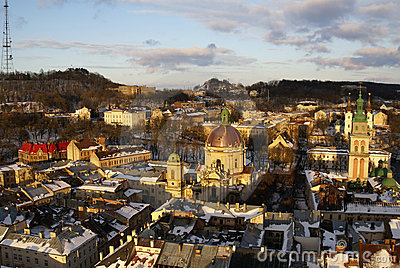 Lvov in the winter