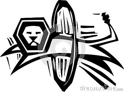 Lwa cyrkowy Skok