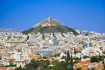 Lycabettus hill at Athens, Greece Stock Photo