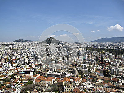 Lycabettus hill in the heart of Athens,