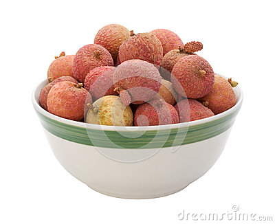 Lychee Bowl isolated on white
