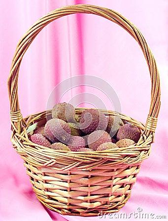 Lychee in basket