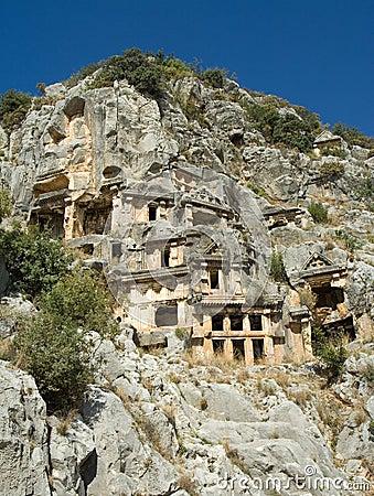 Lycian mountain graves