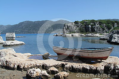Lycian tomb and boat