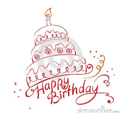 Lycklig ans-födelsedagcake