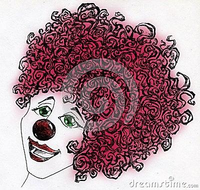 Lycklig clown