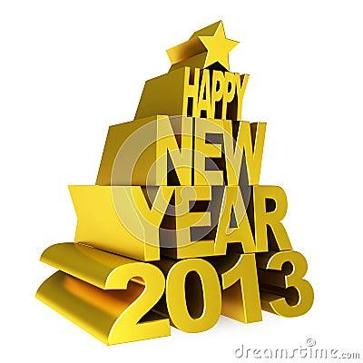 Lycklig guld 2012 för nytt år