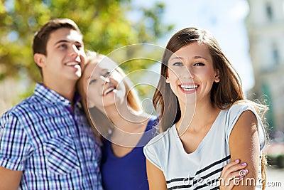 Lycklig ungdomar