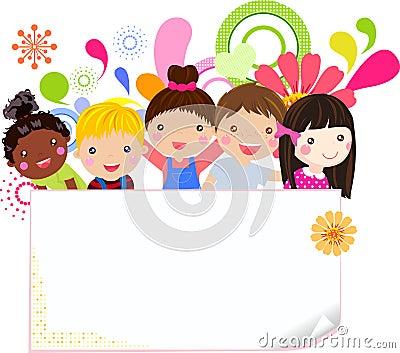 Lyckliga flickor och pojkar