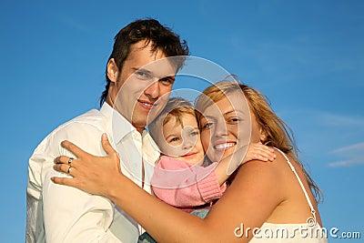Lyckligt barn för familj