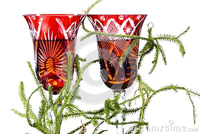 Lycopodium on wineglasses