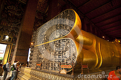 Lying buddha in Wat Pho Editorial Photo