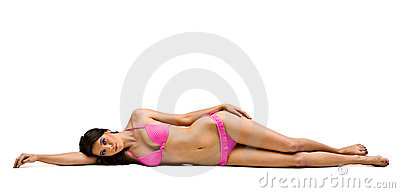 Lying down