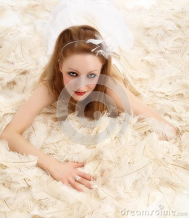 Lying on feathers