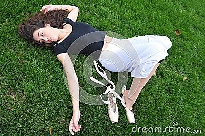 Lying in the garden