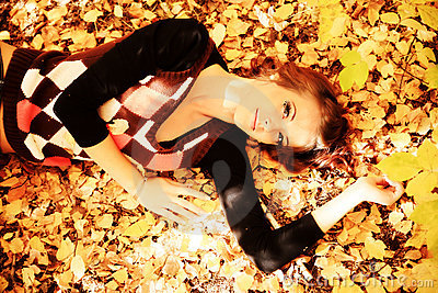 Lying on a leafage