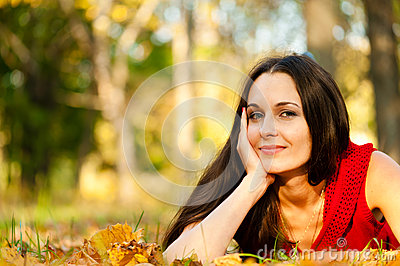 Lying on leaves